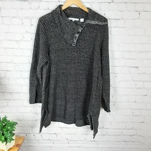 eight eight eight asymmetric neck sweater 3X